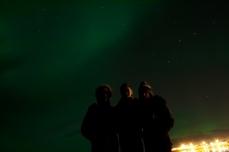 Northern Lights - Rachel, Jevan & Oli
