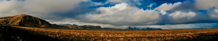 Southern Iceland in November Panaroma