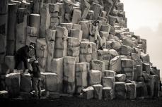 Basalt Rock Climbing Vik, Iceland