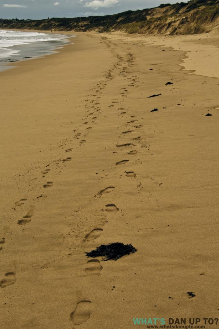 Footprint Sand Trail