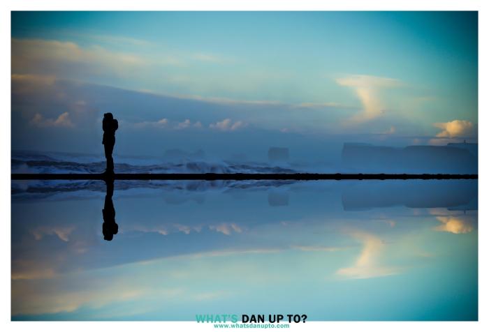 Man on Beach Reflection