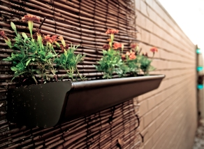 DIY Black Vertical Planter Gutter