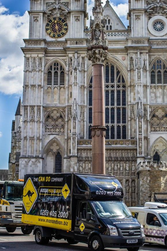 Aussie Van Westminster Abbey