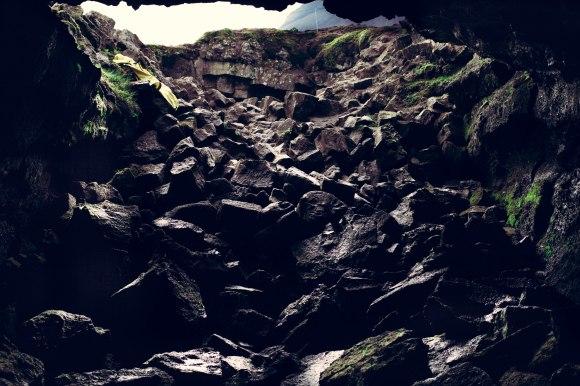 Lava Cave Entrance Iceland