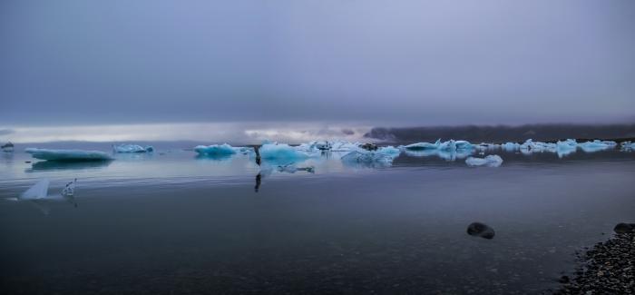 Jökulsárlón - Foggy Day - Iceland
