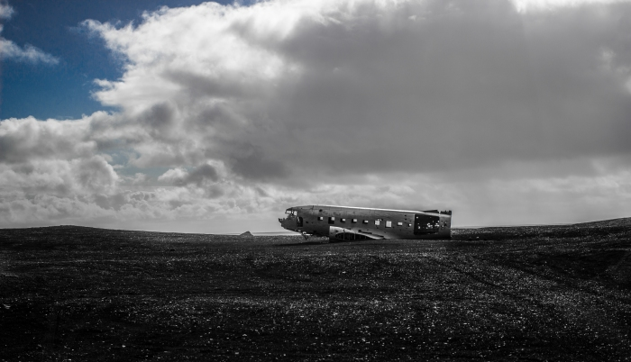 Crashed C117 in Ash Field - Iceland