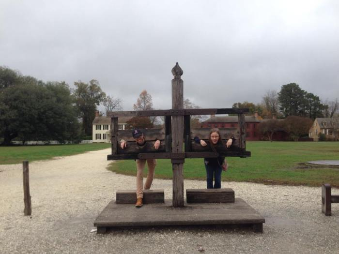 Colonial Williamsburg -- In the Stocks