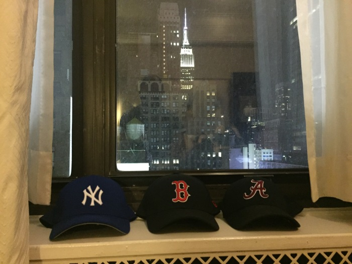 My Collection Of Hats and our hotel room view