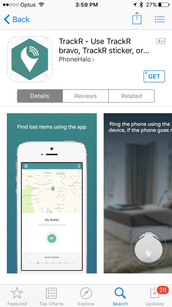 TrackR App Store